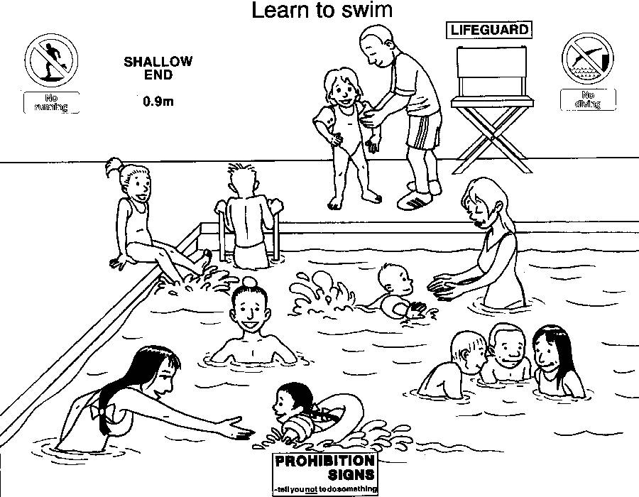 coloring pages swimming pool - photo#33